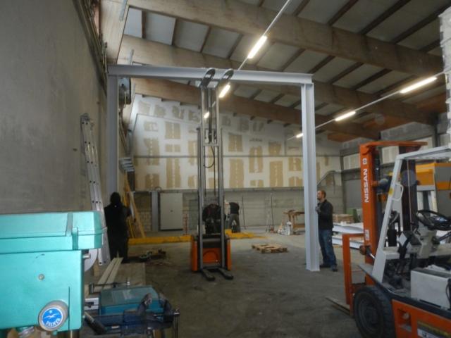Montage der Stahlträger